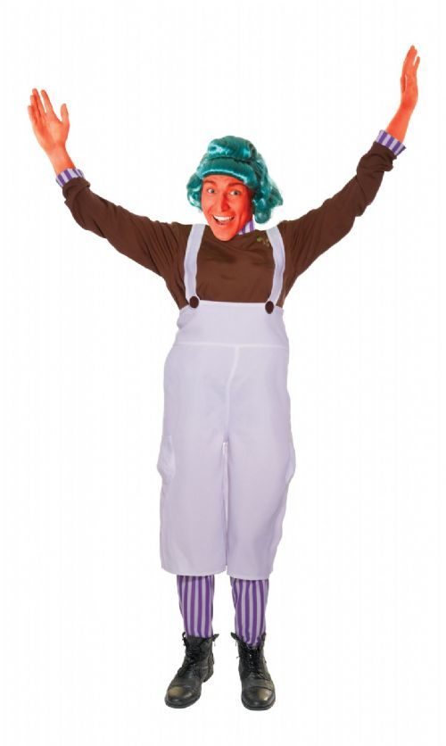 Mens Chocolate Factory Worker Costume Wonka Fancy Dress Outfit